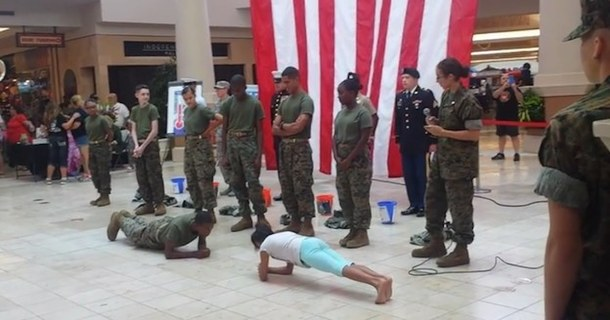 10-Year-Old Girl Actually Destroys Military Cadet At Push-Ups